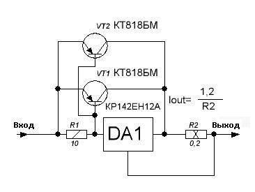 Стабилизатор тока на 6А
