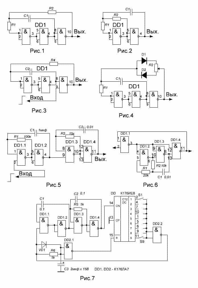Стробируемый генератор, схема