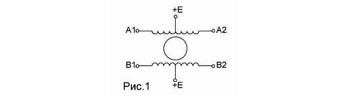 Схема шагового двигателя, ris1