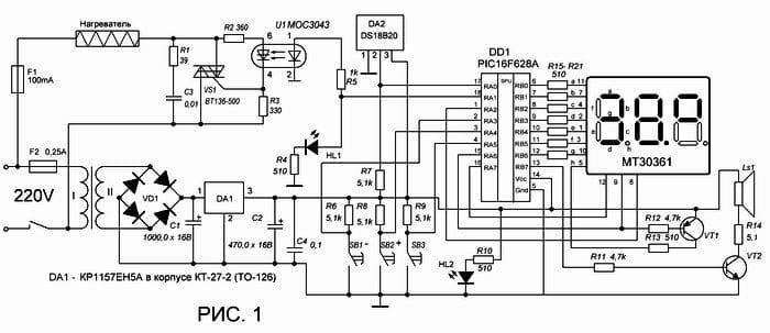 Доработанная схема инкубатора