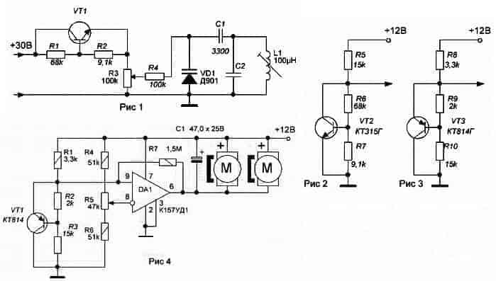 Датчик температуры на транзисторе, shema1