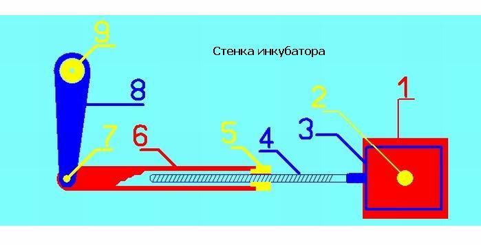 Схема автоматического поворота яиц в инкубаторе своими руками 77