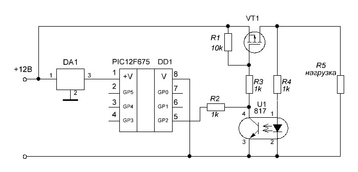Ключ на транзисторе МОСФЕТ,