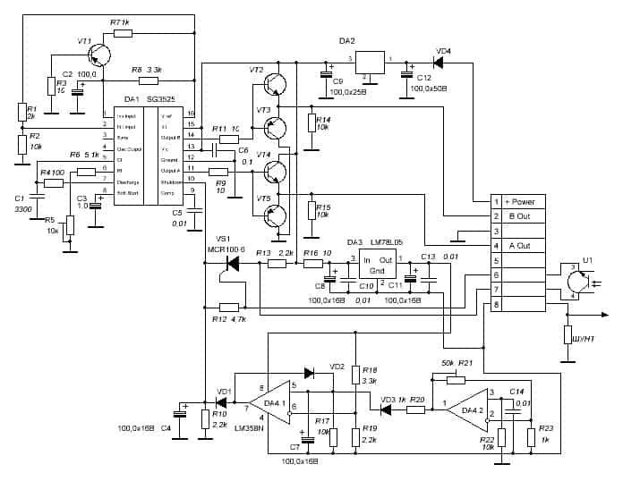 Схема модуля SG3525